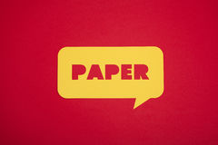 The Paper word in a bubble Royalty Free Stock Photography
