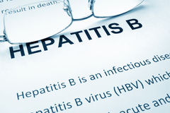Paper with words  hepatitis b Stock Photos