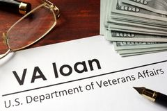Paper with words va loan. royalty free stock photography