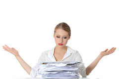 Paper work Royalty Free Stock Photos
