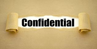 Paper work with confidential royalty free stock image
