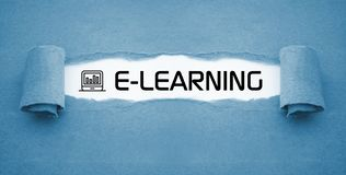 E-Learning Online Learning Online course royalty free stock photo