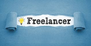 Paper work with freelancer royalty free stock photo