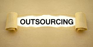 Paper work with outsourcing royalty free stock images