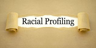 Paper work with racial profiling royalty free stock photography