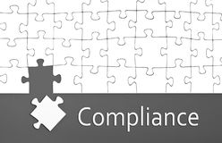Paper work and signs with compliance. Paper work, signs, puzzles with compliance vector illustration