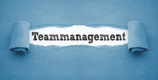 Paper work with teammanagement royalty free stock images