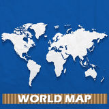 Paper world map Royalty Free Stock Photography