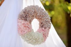 Paper wreath Stock Images