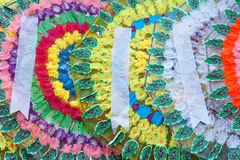 Paper wreathes. The close-up of Chinese paper wreathes used for mourning Stock Image