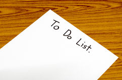 Paper write to do list Royalty Free Stock Image