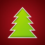 Paper Xmas tree Royalty Free Stock Photography