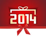 Paper year 2014 gift card. Sample Royalty Free Stock Photo