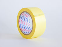 Paper yellow tape. On white background Stock Photo
