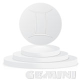 Paper Zodiac sign. Gemini - Astrological and Horoscope symbol on Stock Image