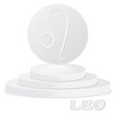 Paper Zodiac sign. Leo - Astrological and Horoscope symbol on pe Stock Images