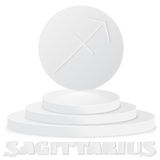 Paper Zodiac sign. Sagittarius - Astrological and Horoscope symb Stock Photos