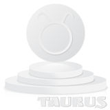 Paper Zodiac sign. Taurus - Astrological and Horoscope symbol on Royalty Free Stock Photo