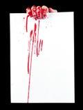 paper zombie Arkivfoto