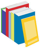 Paperback Books. Illustration of a row of paperback books Stock Image