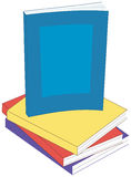 Paperback Books. Illustration of a stack of paperback books, with one book in vertical orientation Stock Photography