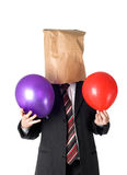 Paperbag man Royalty Free Stock Photo