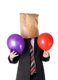 Paperbag man royalty free stock photo