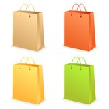 Paperbag set. Set of different paper bags for your designs Royalty Free Stock Image