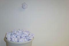 Paperball颜色 库存图片
