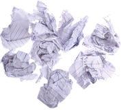 Paperballs a isolé sur le blanc Photo libre de droits