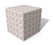 Paperboard Cube Royalty Free Stock Image