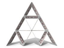 Paperboard Pyramid royalty free stock image
