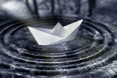 Paperboat Stock Photo