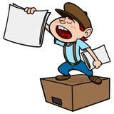 paperboy royalty-vrije illustratie