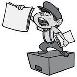 Paperboy Illustration Stock Photos