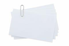 Paperclip στο απομονωμένο λευκό Στοκ Φωτογραφίες