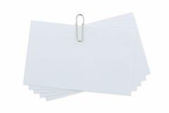 Paperclip στο απομονωμένο λευκό Στοκ Εικόνες