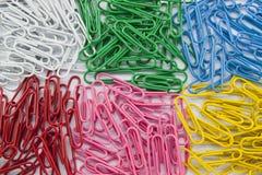 paperclip группы цвета Стоковое Изображение RF