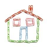 paperclip дома Стоковая Фотография RF