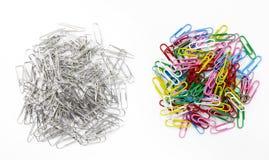 Paperclip на белой предпосылке Стоковые Изображения