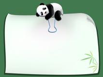 Paperclip панды Стоковые Фото