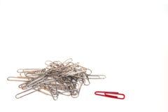 paperclip принципиальной схемы нечетный один вне Стоковые Фото