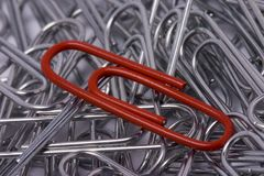 Paperclip. Office paperclip Stock Photo