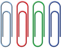 Paperclip. No mesh or transparency - blend only Royalty Free Stock Photo