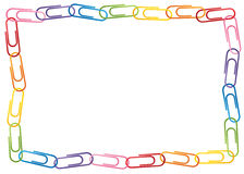 Paperclip Border Stock Image