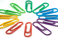 Paperclip circle Royalty Free Stock Image