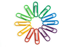 Paperclip circle Stock Image