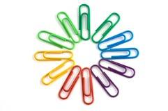 Paperclip circle Stock Image