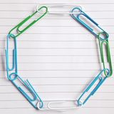 Paperclip circle which resembles earth royalty free stock photo