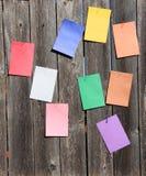 paperclip clored papiery Zdjęcie Stock